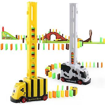 Train Toys Domino Plastic Classic Assembled Toys Dominoes Game Blocks-
