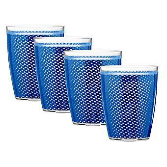 Set de bebidas de doble pared de la red de pescado 14 Oz azul/4