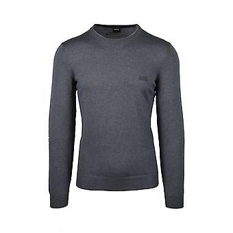 BOSS Casualwear Boss Casualwear Botto-lcrew Neck Neuleet Keskiharmaa
