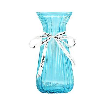 Simple Glass Flower Vase Home Decorator Small Blue