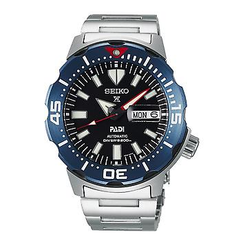 Seiko Watches Srpe27k1 Special Edition Prospex Padi Blue & Silver Stainless Steel Automatic Diver's Men's Watch