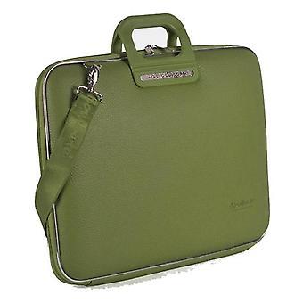 بومباتا حقيبة Firenze حقيبة ل17 بوصة كمبيوتر محمول من قبل فابيو غييوني - كاكي