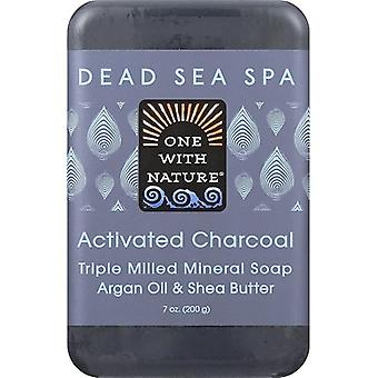 One With Nature Dead Sea Spa Activated Charcoal Mineral Soap