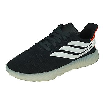 adidas Sobakov Mens Leather Trainers / Shoes - Black