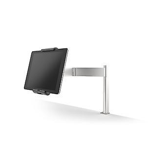 Suporte de mesa de tablet durável 893123 (com braço giratório para comprimidos de 7-13 polegadas, 360° rotativo com antirroubo) prata/antracito