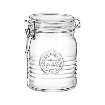 Bormioli Rocco Officina 1825 Glass Storage Jar with Airtight Clip Lid - 750ml