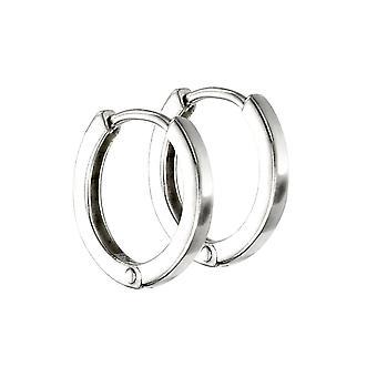 Начало стерлингового серебра мини плоский профиль Huggie Hoop серьги E5864