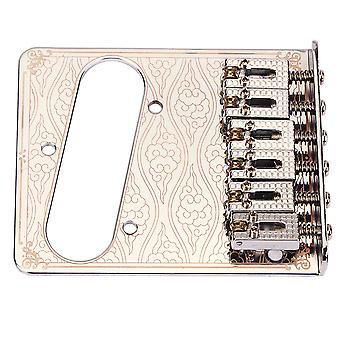 Plata 6 cuerdas Sillín Bridge Plate para Fender Electric Guitar