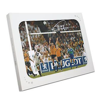 Jonny Wilkinson unterzeichnet 2003 Rugby World Cup Foto: Der Drop-Kick. In Geschenkbox