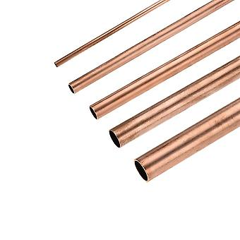 Copper Round Tube 7mm-30mm Id Hollow Straight Pipe Tubing Smooth Surface Length 100mm/200mm/300mm