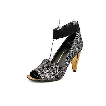 Kenneth Cole Reaction Womens Peep Rise Leather Peep Toe Ankle Strap Classic Pumps