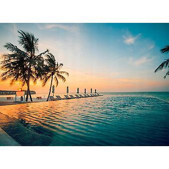 Fondo de pantalla Mural Sunset en Maldivas