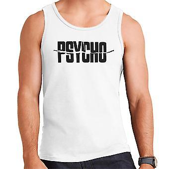 Logotipo de texto preto psicomáde men's vest