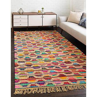 Natural Upcycled Chindi Jute Large Area Rugs