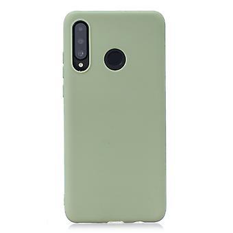 Frosted Solid Color TPU Beschermhoes voor Huawei P30 Lite / Nova 4e (Bean groen)