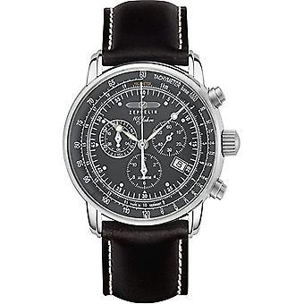 Zeppelin 7680-2 100 Years Black Dial Chronograph Wristwatch