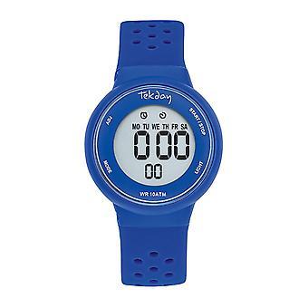 Tekday Watch 654684 - Watch Bo tier Silicone Blue Silicone Bracelet Blue