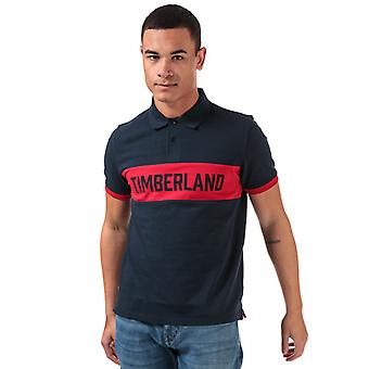 Men's Timberland Miller Rivers Block Polo Shirt in Blauw