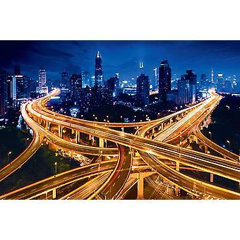 Taustakuva seinämaalaus Shanghai Elevated Road Junction (64946366)
