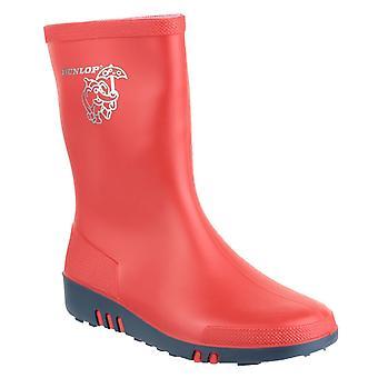 Dunlop kids mini wellington boot red 21816