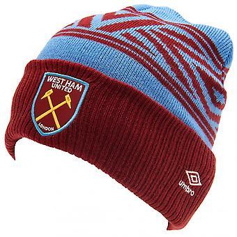West Ham United FC Unisex Adult Umbro Beanie