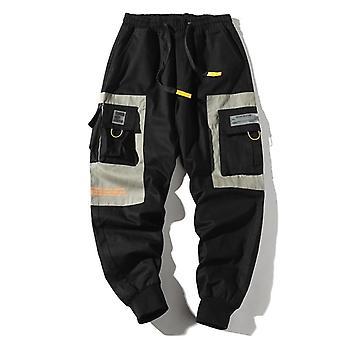 Pantalone harem elastico uomo hip hop uomo multitasca pantalone harem, pantaloni casual, maschio