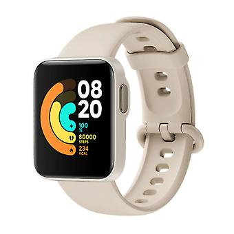 Xiaomi Mi Watch Lite - Sports Smartwatch Fitness Sport Aktivitet Tracker med Heart Monitor - iOS Android 5ATM iPhone Samsung Huawei Beige