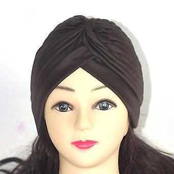 Femei Shine Silver Gold Nod Twist Turban Headbands Cap & Warm Headwear Casual