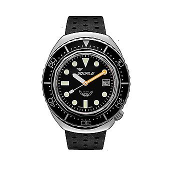 Squale 2002.SS.BK.BK.NT 1000 Meter Swiss Automatic Dive Wristwatch Rubber