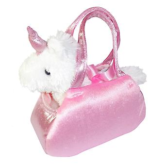Childrens pink and white Unicorn in a cute bag