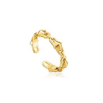 Ania Haie Shiny Gold Spike Adjustable Ring R025-02G