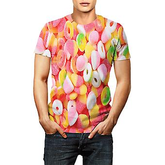 3d Sweet Sugar Printed T-shirt Summer Short Sleeve O-neck Tops Fashion Colorful