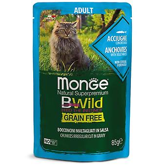 Monge Adult Anchovies And Vegetables Grain Free (Cats , Cat Food , Wet Food)