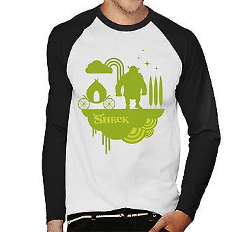 Shrek Silhouette Mænd's Baseball langærmet T-shirt