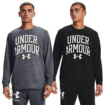 Under Armour Mens 2021 Rival Terry Moisture Wicking Fast Dry Crew Neck Sweater