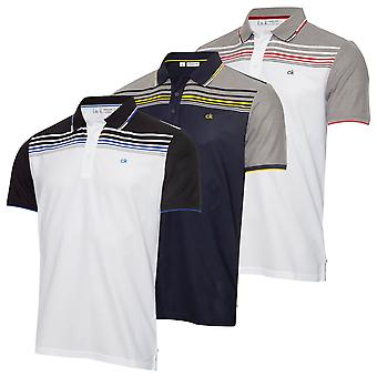 Calvin Klein Męska 2021 Nelson Lekki Wicking UV Protection Golf Polo Koszula