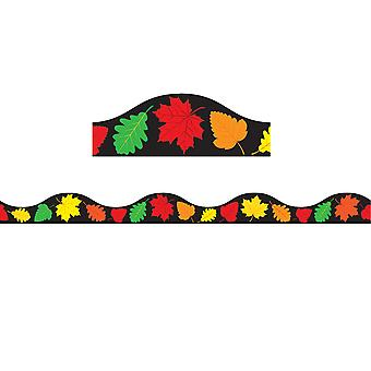 Magnetic Scallop Border Fall Leaves, 12'