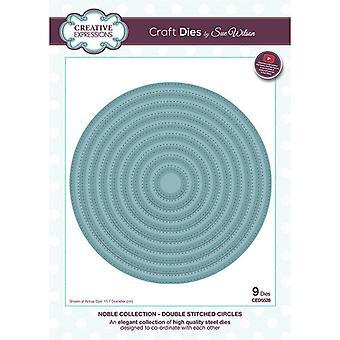Creative Expressions Noble Collection Cutting Dies - Kaksinkertaiset ommellut ympyrät