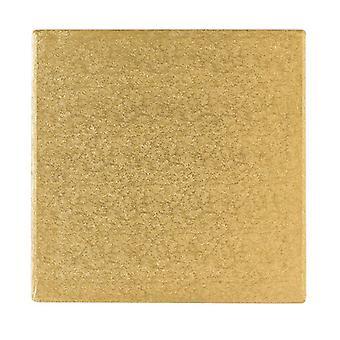 """14"""" (355mm) Cake Board Square Gold Fern - sencillo"""