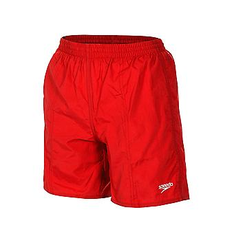 Speedo Boy's Solid Leisure 15 Inch Swim Shorts - Red