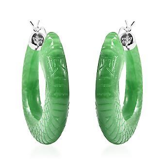 Drachen Ohrringe Schmuck für Frauen in Silber Tier Schmuck Jade