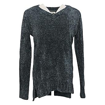 Orvis Ladies' Chenille Tunic Pullover Sweater Marled Phantom Gray 1420674