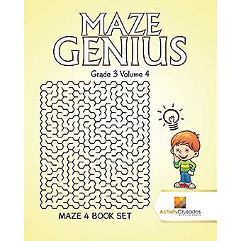 Maze Genius Grade 3 Volume 4 - Maze 4 Book Set by Activity Crusades -
