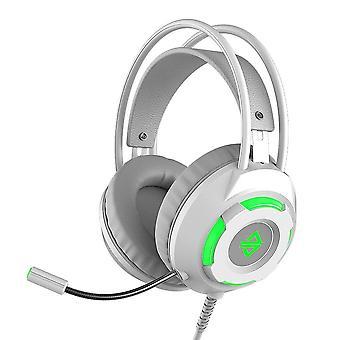 Usb kablet headset 3,5 mm stereo gaming støyreduserende hodetelefoner med mic 50mm driverenhet