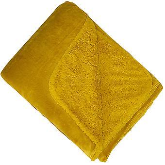 Malini Cosy Throw, Mustard 150 x 201