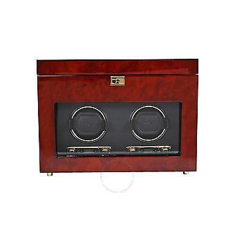 Wolf Savoy Double Watch Winder - Burlwood 454610