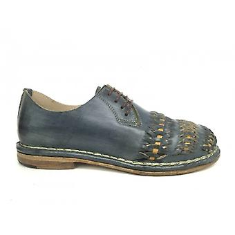 Мужская обувь Головокружение Ручная работа 3 Плетения Кожа Синий Море Дно Кожа Us16dz03