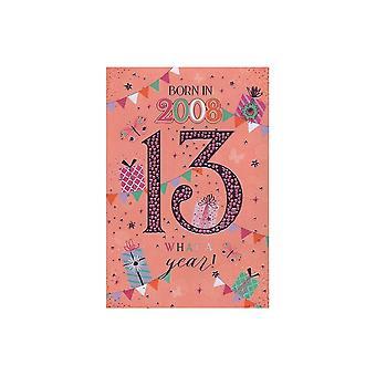 ICG Ltd 2021 Female 13 Year You Were Born Birthday Card
