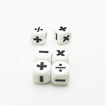Tilläggs- och subtraktionssymbol tärningar