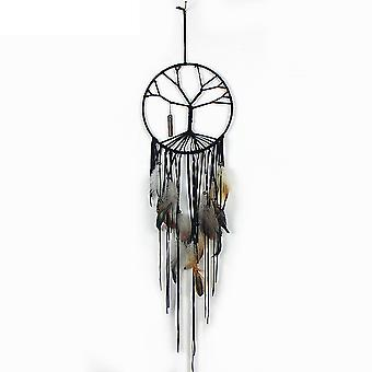 Dream Catcher Tree Of Life Feather Dreamcatcher Wall Hanging Decor Room Crystal Amulet Handmade Pendant